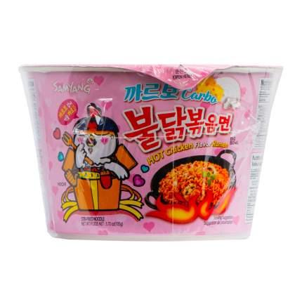 Лапша Samyang быстрого приготовления со вкусом курицы и соуса карбонара острая 105 г