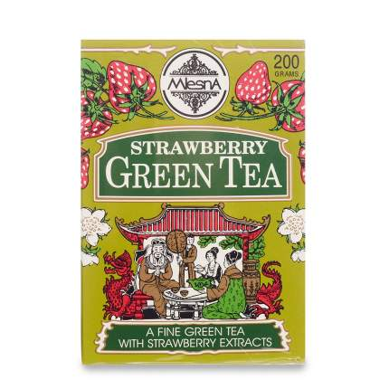 Чай зеленый Mlesna с ароматом клубники, 200г Шри-Ланка