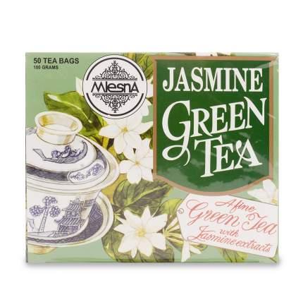 Чай зеленый Mlesna с ароматом жасмина, 50 пак*2г Шри-Ланка