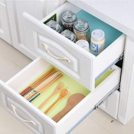 Антибактериальные силиконовые коврики на полки холодильника и шкафов, 6 шт., 30х45