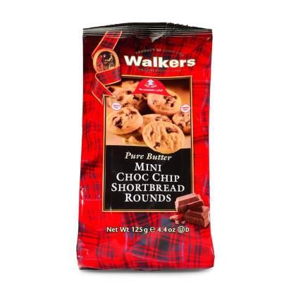 Мини-печенье Walkers Круглое и с шоколадной крошкой песочное  125 г Великобритания