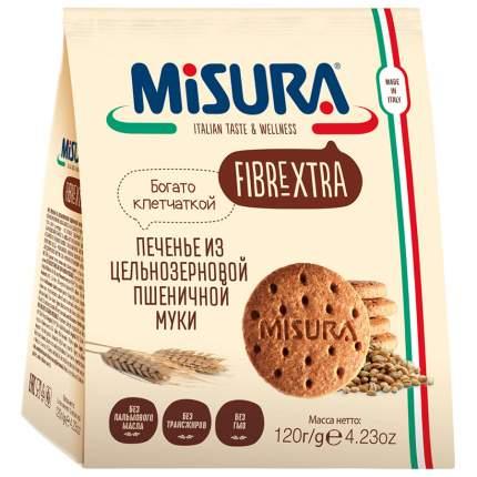 Печенье Misura Fibrextra из цельнозерновой муки Colussi 120г Италия