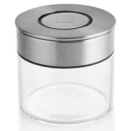 Банка контейнер для хранения сыпучих продуктов с вакуумной крышкой-кнопкой 500 мл.
