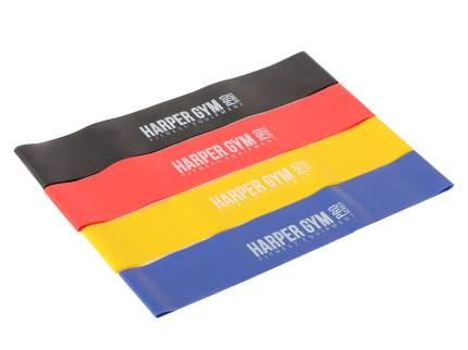 Набор эспандеров Harper Gym NT18006 желтый/красный/фиолетовый/черный, 4 шт.