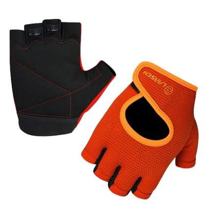Перчатки для фитнеса Larsen, чёрно-оранжевые, размер: Xs