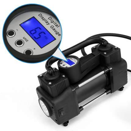 Компрессор двухцилиндровый AUTOVIRAZH 95 л/мин с цифровым манометром AV-010999