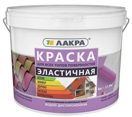 Краска эластичная для всех типов поверхностей, Лакра белый 6 кг