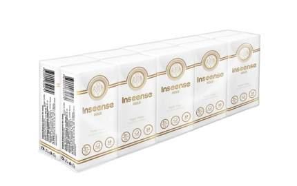 Платочки Inseense бумажные без аромата 3 слоя 10 шт