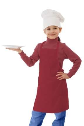 Фартук детский IQ Dekor текстиль однотонный красный для девочки