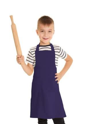 Фартук детский IQ Dekor текстиль однотонный сирень для мальчика