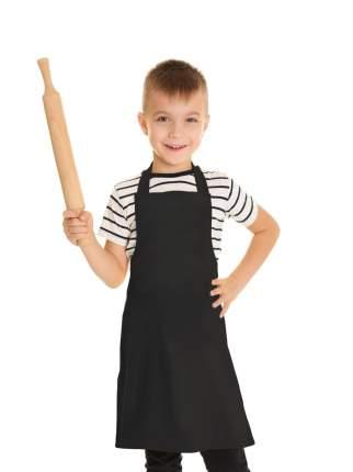 Фартук детский IQ Dekor текстиль однотонный черный для мальчика
