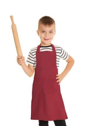 Фартук детский IQ Dekor текстиль однотонный красный для мальчика