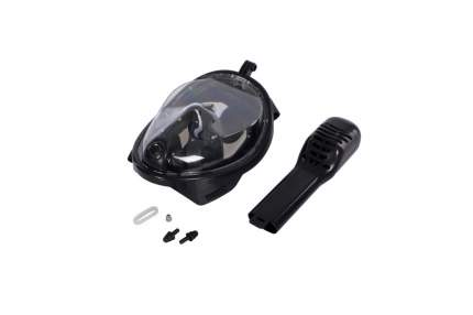 """Полнолицевая маска """"Bradex"""", для снорклинга, размер: S, цвет: чёрный"""