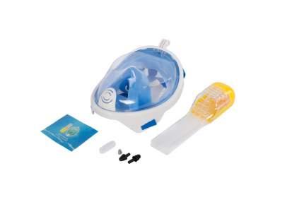 """Полнолицевая маска """"Bradex"""", для снорклинга, размер: S, цвет: голубой"""