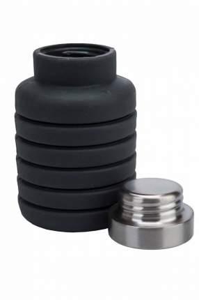 """Бутылка """"Bradex"""" для воды силиконовая складная с крышкой, 500 мл, цвет: темно-серый"""