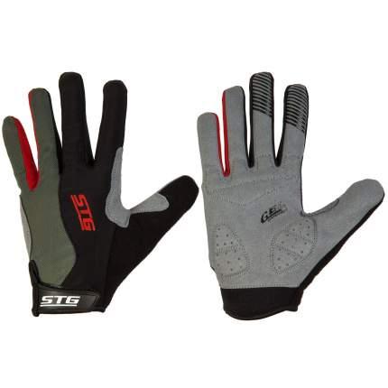 Велоперчатки STG Х87906, black/grey, L