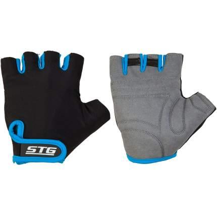 Велоперчатки STG Х87903, black/blue, L