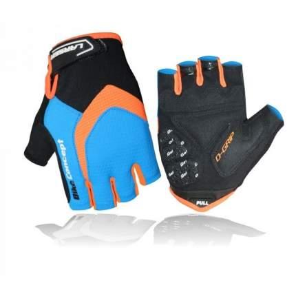 Велоперчатки Larsen 01-2822, цвет: голубой, оранжевый, размер: M