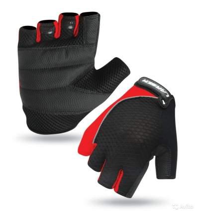 Велоперчатки Larsen 01-1232, красные (размер L)