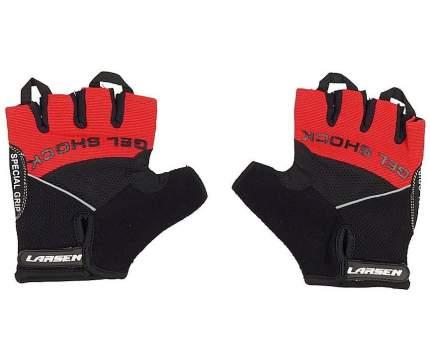 Велоперчатки Larsen 01-1044, красные (размер L)