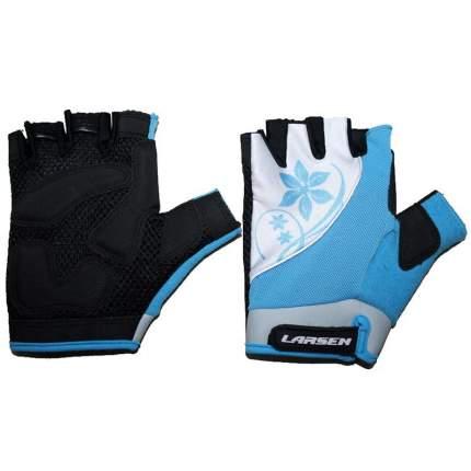 """Велоперчатки Larsen """"01-1262"""", голубой, размер XL"""