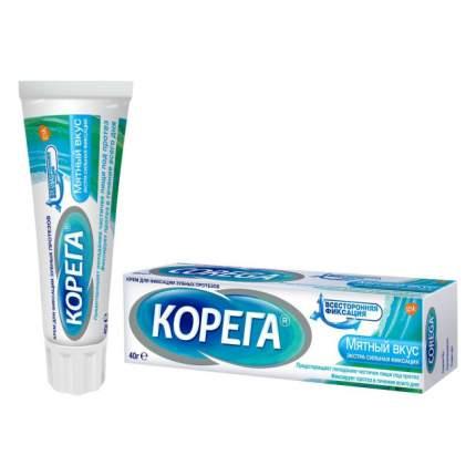 Крем для фиксации зубных протезов Корега экстра сильной фиксации мята 40мл