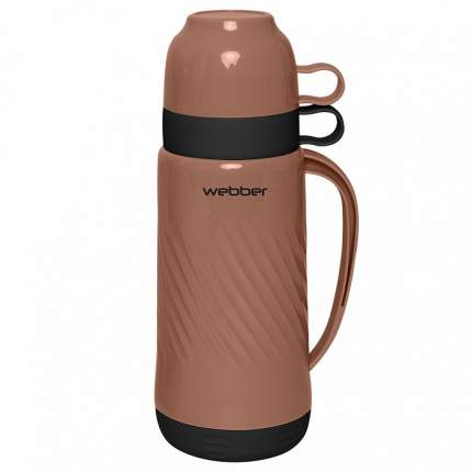 """Термос со стеклянной колбой """"Webber"""" 24007/11S, 1 л, цвет: коричневый, черный"""