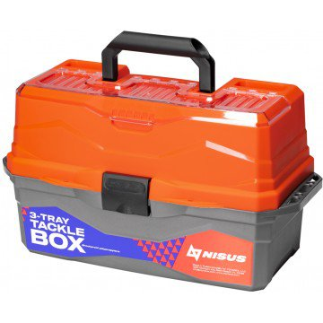 Ящик для снастей Nisus Tackle Box трехполочный оранжевый N-TB-3-O