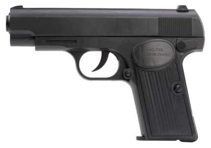 Механический пистолет Наша игрушка 17 см черный