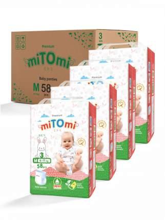 Подгузники-трусики miTOmi Premium M (6-11 кг), 4x58 шт.