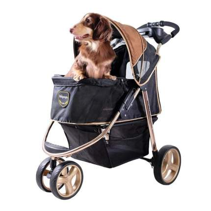 Ibiyaya Monarch Premium коляска для собак и кошек до 28 кг, темно-золотая
