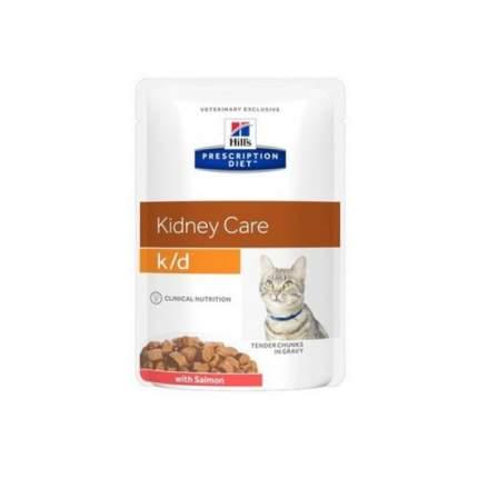 Влажный корм для кошек Hills Prescription Diet k/d Kidney Care с лососем 85 г 12шт