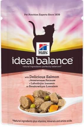 Hills Ideal Balance влажный корм для взрослых кошек с аппетитным лососем 85 г 12 шт