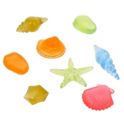 Gloxy флуоресцентная аквариумная декорация набор ракушек 8 шт