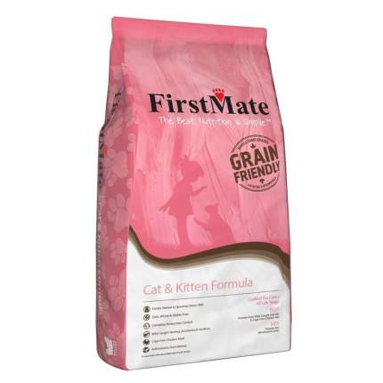 FirstMate Cat & Kitten сухой низкозерновой корм для котят и взрослых кошек 2,3 кг