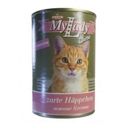 Консервы Dr Alders My Lady Classic для взрослых кошек с крольчатиной 415 гр х 24 шт