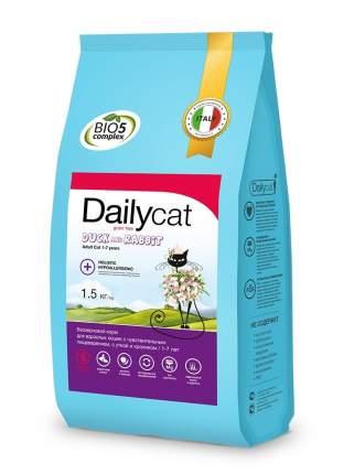 Dailycat Grain Free Adult сухой беззерновой корм для кошек с уткой и кроликом 1,5 кг