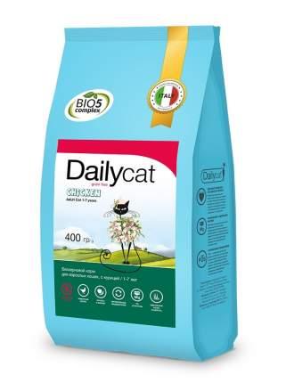 Dailycat Grain Free Adult сухой беззерновой корм для взрослых кошек с курицей 400 г