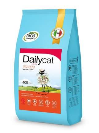 Dailycat Grain Free Adult сухой беззерновой корм для взрослых кошек с индейкой 400 г