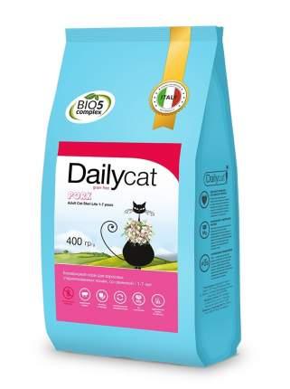 Dailycat Grain Free Adult Steri lite сухой беззерновой корм для кошек со свининой 400 г