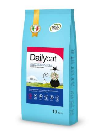 Dailycat Grain Free Adult Steri lite сухой беззерновой корм для кошек лосось тунец 10 кг