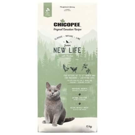 Chicopee CNL Cat Junior New Life сухой корм для котят с курицей 15 кг