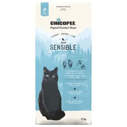 Chicopee CNL Cat Adult Sensible сухой корм для кошек с ягненком 15 кг