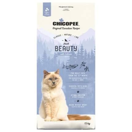 Chicopee CNL Cat Adult Beauty сухой корм для взрослых кошек с лососемт 15кг