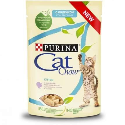 Влажный корм для кошек Cat Chow Нет, индейка, кабачек, 24шт, 85г