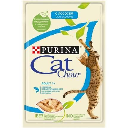 Влажный корм для кошек Cat Chow Нет, лосось, зеленая фасоль, 24шт, 85г
