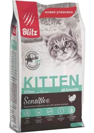 Сухой корм Blitz Kitten для котят с индейкой 400 г