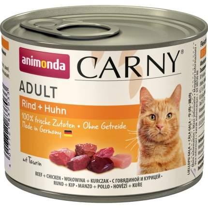 Консервы для кошек Animonda Консервы Carny Adult с говядиной и курицей 200 гр х 6 шт