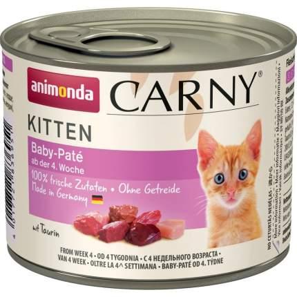 Консервы Animonda Carny Kitten Baby-Pate паштет для котят 200 гр х 6 шт