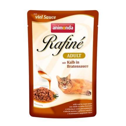 Влажный корм для кошек Animonda Rafine Soupe Adult с телятиной в жареном соусе 100 г 12 шт
